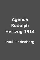 Agenda Rudolph Hertzog 1914 by Paul…