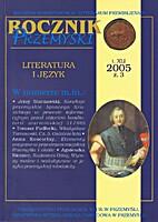 Rocznik Przemyski Literatura i Język t. XLI…