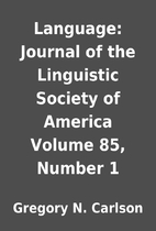 Language: Journal of the Linguistic Society…