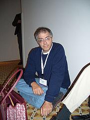 Author photo. Web 2.0 2004, photo by Cory Doctorow