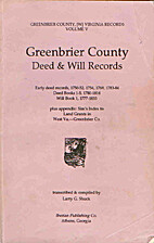 Greenbrier County Deed & Will Records,…