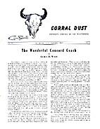 Corral Dust, Vol. IV No. 3, September 1959…