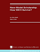New-Model Scholarship : How Will It Survive?…