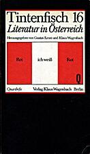 Literatur in Österreich : Rot ich weiß Rot…