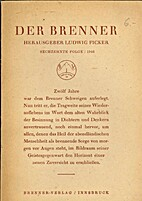 Der Brenner by Ludwig Ficker, [from old…
