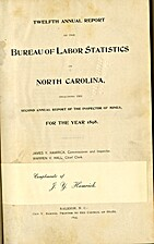 Twelfth Annual Report of the Bureau of Labor…