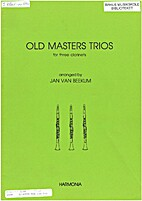 Old masters trios for three clarinets by Jan…