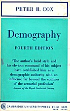 Demography by Peter R. Cox