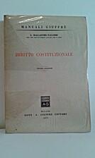 Diritto costituzionale by Giorgio Balladore…