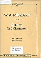 6 duette für 2 clarinetten op. 70 by WA…