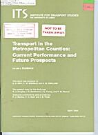 Transport in the metropolitan counties :…