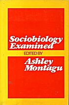 Sociobiology Examined (Galaxy Books) by…
