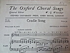 The Oxford Choral Songs: Cradle Song by…