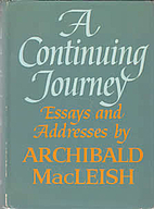 A Continuing Journey: Essays and Addresses…