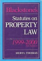 Statutes on Property Law (Blackstone's…