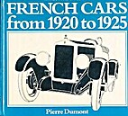 French Cars from 1920 to 1925 by Pierre…