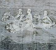 Author photo. Detail, Stone Mountain, Georgia. Photo by user diliff / Wikimedia Commons.
