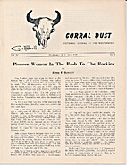Corral dust, Vol IV, No. 2, June 1959 by…