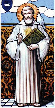 Author photo. St. Columbanus, Bobbio Abbey, Bobbio, Italy. Photo by user Trebbia / Wikipedia