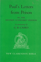 Paul's Letters from Prison in the Revised…