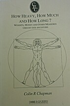 How Heavy, How Much and How Long?: Weights,…