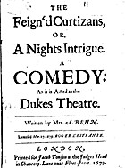 The feign'd curtizans, or, A nights intrigue…