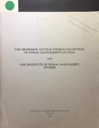 The Professor Arthur Vööbus Collection of…
