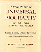 A Dictionary Of Universal Biography Of All…