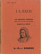 J.S. Bach 185 Four-Part Chorales (From the…