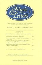 Music & Letters - vol. 82 Nr 4 by Nigel…