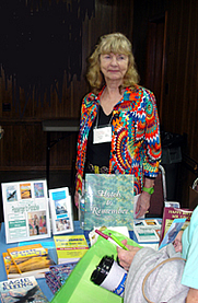 Author photo. Author Mary Montague Sikes at a Virginia book signing