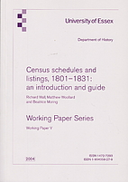 Census schedules and listings, 1801 - 1831 :…
