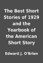 The Best Short Stories of 1929 and the…