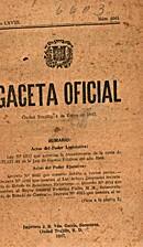 Gaceta Oficial: Ciudad Trujillo, 4 de enero…