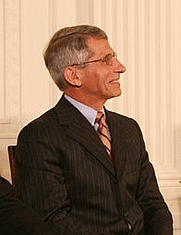 Author photo. Anthony Fauci at the 2008 Presidential Medal of Freedom ceremonies.  White House photo by Shealah Craighead