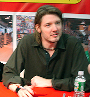 Author photo. Exhibition Hall, New York Comic-Con 2006, by Lampbane