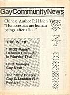 Gay Community News (Volume 14, Number 38)…