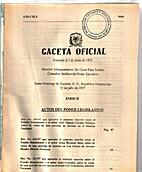 Gaceta Oficial: Santo Domingo de Guzmán, 31…