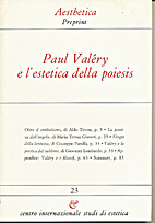 Paul Valery e l'estetica della poiesis by…