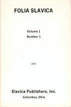 Folia Slavica 1 (1977/78) 1: 1-160