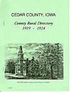 Cedar County, Iowa County Rural Directory…