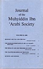 Journal of the Muhyiddin Ibn 'Arabi Society…
