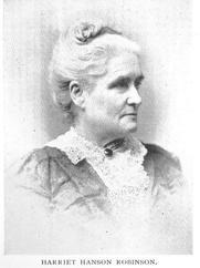 Author photo. Harriet Hanson Robinson (b.1825), Buffalo Electrotype and Engraving Co., Buffalo, N.Y.