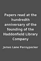 Papers read at the hundredth anniversary of…