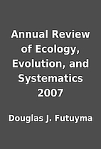 Annual Review of Ecology, Evolution, and…