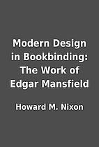 Modern Design in Bookbinding: The Work of…