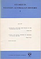 Studies in Western Australian History I