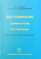 Dictionnaire combinatoire du français :…