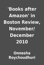 'Books after Amazon' in Boston Review,…