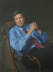 Author photo. Oil on canvas, Paul Benny, 2001 (Collection U.S. House of Representatives)